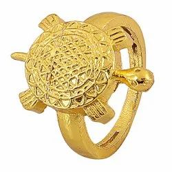 Brass Meru Shree Yantra Ring