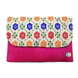 Raw Silk Clutch Bag