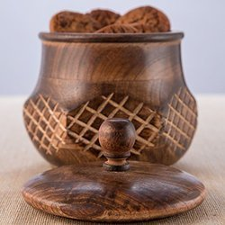 Wooden Tobacco Jar