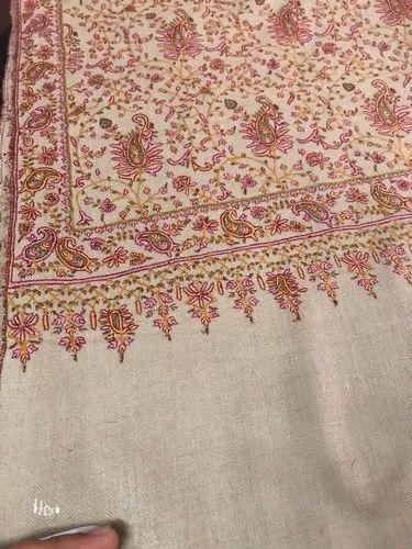 b9b6966e05 Hand Embroidery Pashmina Jamawar Shawl, Size: 100 Cms/200 Cms, Rs ...