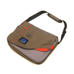 Brown Polyester Side Bag