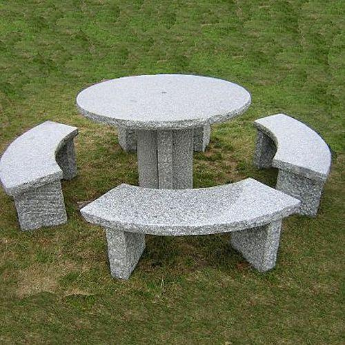 Stone Garden Table Set At Rs Set पतथर क - Stone picnic table set