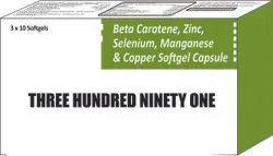 Beta Carotene Zinc Selenium Manganese and Copper Softgel Capsule