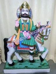 Marble Harji Bhati Dalibai Ramdev Statue