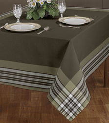 Border Check Table Cloth