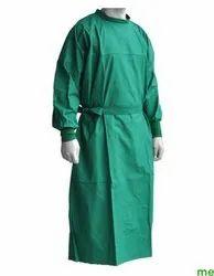 Green,Sky Blue Cotton Wrap Around Surgeon Gown