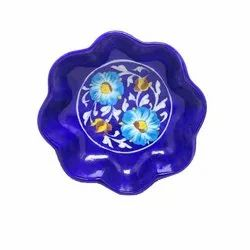 Blue Pottery Handmade Ceramic Colorful Bowl, Packaging Type: Bubble & Carton, 8 Inch
