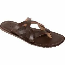 Brown Synthetic Leather Vonzo Men's Formal Slipper/ Flip-Flops/Chappal 4024