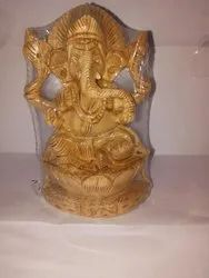 Wooden Lord Ganesha Statue Made From Kadam Wood