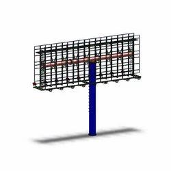 Uni Pole Hoarding Fabrication Service