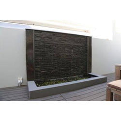 Marble Black Water Curtain In Restaurants, 220V