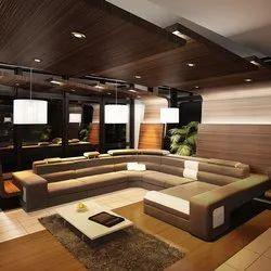 Madni Furniture Pu Foam U Shape Sofa Set, Living Room