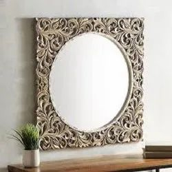 Magicwoods Modern CNC Laser Cut Mirror Frame, For Residential,Hotel etc