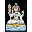 Handicrafts Gateway Colorful Marble Shankar Moorti For Worship