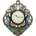Village Analogs Wooden Peacock Wall Clock