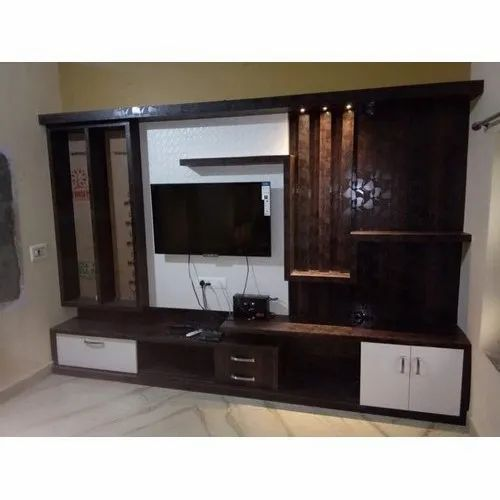 Brown Wall Mounted Wooden Lcd Tv Cabinet Bedroom Hallroom Rs 35000 Unit Id 22096793091