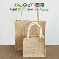 Natural Organic Cotton Jute Bag