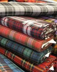 Twill Checks Suiting Fabric