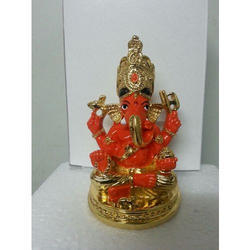 Gold Plated Ganesh Statue