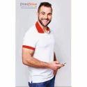 Cotton Casual Wear Mens Collar T Shirt