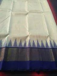 Pure Kanchipuram Silk Saree, 6 m (with blouse piece)