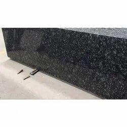 Black Pearl Granite RK Marble Slab, For Flooring, Thickness: 15-20 mm