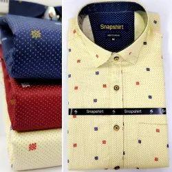 Casual Wear Men Printed Shirt