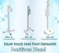 Hand Touch Free Foot Operated - Sanitizer Stand