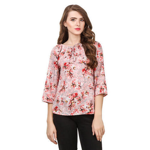 35eebb83fc M And XL Ladies Floral Printed Rayon Tops