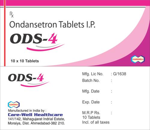 ODS-4 Ondansetron ODS 4 Tablets, 4 Mg, Grade Standard: Medicine Grade