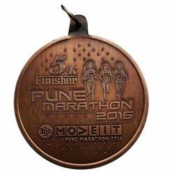 5K Brass Marathon Medal