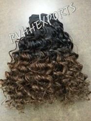 Indian Curly Ombre Color Hair