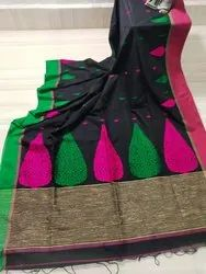 Khadi Cotton Hand Weived Jamdani Sarees