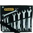 Chrome Vanadium Steel Stanley 87-718 8 Pieces Double Open End Slimline Spanner Set