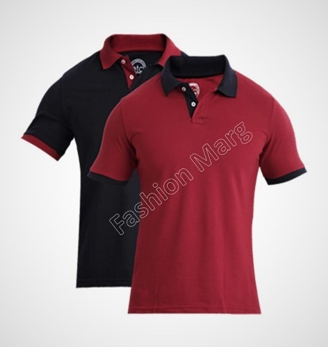 7040d351 Fashion Marg Red And Maroon Men's Plain Polo T-Shirts, Rs 280 /piece ...