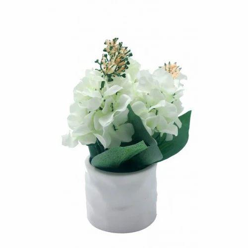 Artificial white flowers in ceramic pot fake flower kritim phool artificial white flowers in ceramic pot mightylinksfo