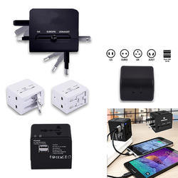 Worldwide Travel Adapter with 2USB
