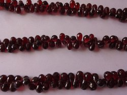AAA Natural Mozambique Garnet Teardrop shape Faceted Briolette Craft Loose Gemstone Beads Strands