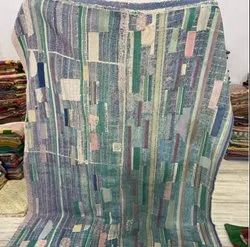 Blocked Design Vintage Kantha Quilt