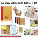 Eco Sticky Note Pad with Ball Pen