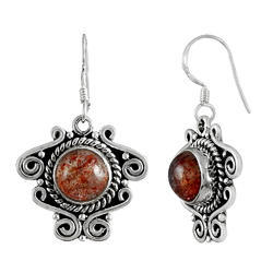 Fabulous 925 Sterling Silver Real Sunstone Earrings