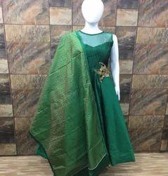 Xl Women Green Gowns