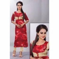 Ladies Rayon Casual Wear Kurti