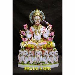 Marble Lord Manibhadra Statue