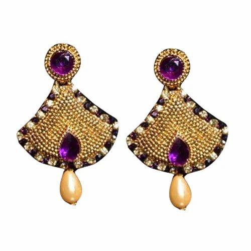 Golden Stone Earrings