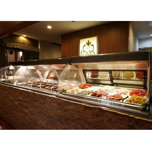 Glass & Stainless Steel Restaurant Display Counter, Rs 48000 /piece