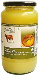 Farm Naturelle-100% Pure Desi Sahiwal Cow Ghee from A2 Milk (1000mL) Glass Bottle