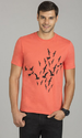 Round Printed Carrot Red T-shirt Tms1711