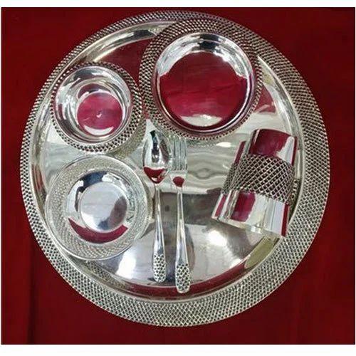 Designer Silver Dinner Set & Designer Silver Dinner Set Silver Dinner Set - Khushbu Jewellers ...
