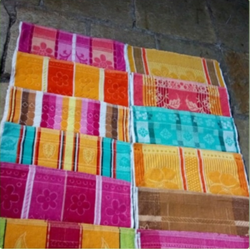 Multicolor Printed Jacquard Towel, 450-550 GSM, Size: 30x60 Inch